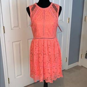 BRAND NEW Bright coral spring dress!